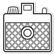 Caleb Gray Studio Coloring: Retro Pocket Camera