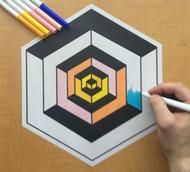 Eric Vozzola Coloring: Illusion Cube
