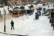 Fifth Avenue in Winter by Hassam
