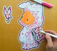 Juan Muniz Coloring: Butterflies In The Tummy