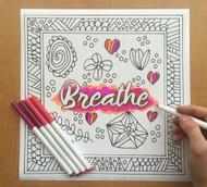 Begsonland Breathe Doodle Decal