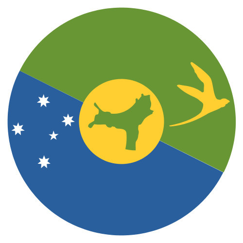 Christmas Island Flag.Emoji One Wall Icon Christmas Island Flag
