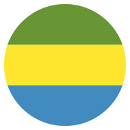 Emoji One Wall Icon Gabon Flag