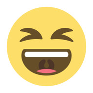 Emoji One Wall Icon Smiling Face With Open Mouth And Tightly-Closed Eyes