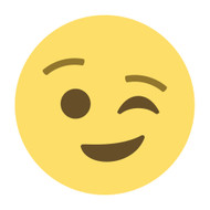 Emoji One Wall Icon Winking Face