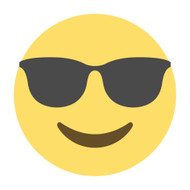 Emoji One Wall Icon Smiling Face With Sunglasses
