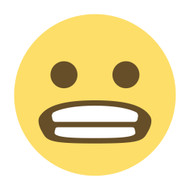 Emoji One Wall Icon Grimacing Face