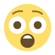 Emoji One Wall Icon Astonished Face
