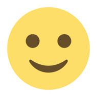 Emoji One Wall Icon Slightly Smiling Face