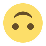 Emoji One Wall Icon Upside-Down Face