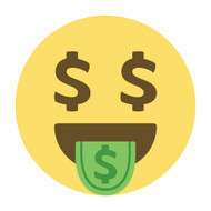 Emoji One Wall Icon Money-Mouth Face