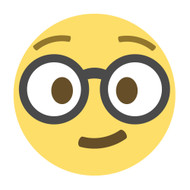 Emoji One Wall Icon Nerd Face