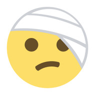 Emoji One Wall Icon Face With Head-Bandage