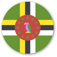 Emoji One Wall Icon Dominica Flag