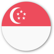 Emoji One Wall Icon Singapore Flag