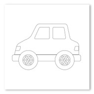 Emoji One COLORING Wall Graphic: Square Automobile