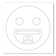 Emoji One COLORING Wall Graphic: Square Grinning Face