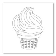 Emoji One COLORING Wall Graphic: Square Ice Cream