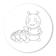 Emoji One COLORING Wall Graphic: Circle Bug