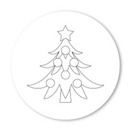 Emoji One COLORING Wall Graphic: Circle Christmas Tree