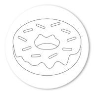 Emoji One COLORING Wall Graphic: Circle Doughnut