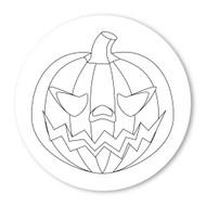 Emoji One COLORING Wall Graphic: Circle Jack O Lantern