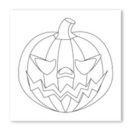 Emoji One COLORING Wall Graphic: Square Jack O Lantern