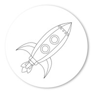 Emoji One COLORING Wall Graphic: Circle Rocket
