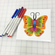 Emoji One COLORING Wall Graphic: Square Butterfly