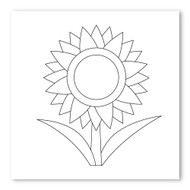 Emoji One COLORING Wall Graphic: Square Sunflower
