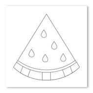 Emoji One COLORING Wall Graphic: Square Watermelon