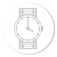Emoji One COLORING Wall Graphic: Circle Watch