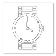 Emoji One COLORING Wall Graphic: Square Watch