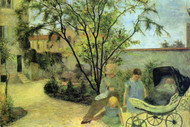 Garden in Rue Carcel by Paul Gauguin