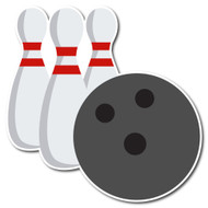 Emoji One Activity Wall Icon: Bowling