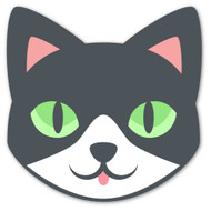 Emoji One Animals & Nature Wall Icon: Cat Face