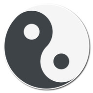 Emoji One Symbols Wall Icon: Yin Yang