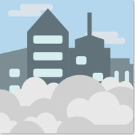 Emoji One Travel & Places Wall Icon: Foggy