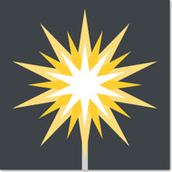 Emoji One Travel & Places Wall Icon: Firework Sparkler