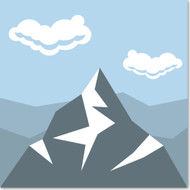 Emoji One Travel & Places Wall Icon: Snow Capped Mountain