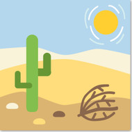 Emoji One Travel & Places Wall Icon: Desert