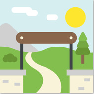 Emoji One Travel & Places Wall Icon: National Park