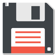 Emoji One Objects Wall Icon: Floppy Disk