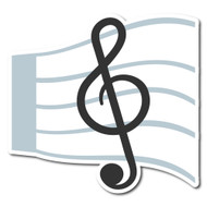 Emoji One Sports & Activities Wall Icon: Musical Score