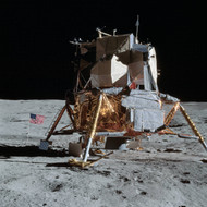 The Apollo 14 Lunar Module On The Moon