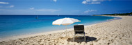 Standard Photo Board: Single Beach Chair and Umbrella on Sand - AMER - INDY