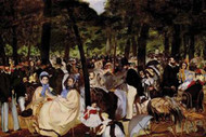 Music in Tuilerie Garden by Manet