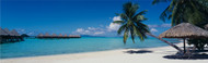 Extra Large Photo Board: Beach Umbrella Moana Beach Bora Bora - AMER - INDY