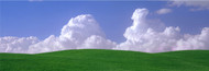 Extra Large Photo Board: Green Fields and Clouds - AMER