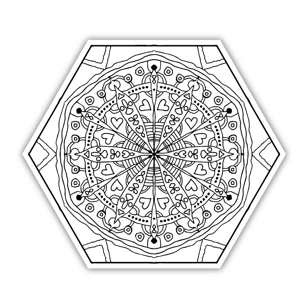 Eden Art Therapy Coloring Graphic: Conception - Walls 360